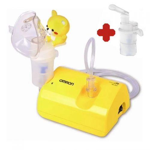 Inhalátor OMRON C801-KD SET + druhá inhalační sada