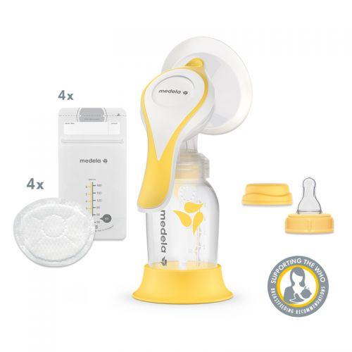 Manuální 2-fázová odsávačka mateřského mléka MEDELA Harmony Essentials Pack