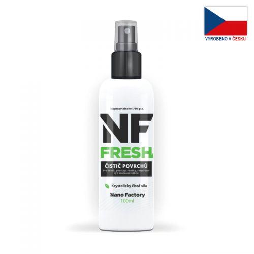 Sprej NF FRESH (100ml, 70%) na sterilizaci a dezinfekci roušek a respirátorů