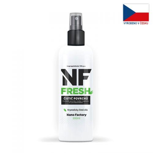 Sprej NF FRESH (300 ml, 70%) na sterilizaci a dezinfekci roušek a respirátorů
